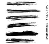 ink vector brush strokes... | Shutterstock .eps vector #573734497