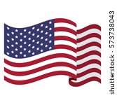 colorful flag the united states ... | Shutterstock .eps vector #573738043