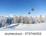 ski resort in the austrian alps | Shutterstock . vector #573746503
