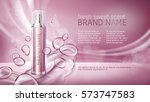 pink background with... | Shutterstock .eps vector #573747583