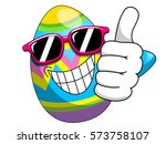 decorated easter egg cartoon... | Shutterstock .eps vector #573758107