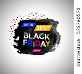 black friday sale banner over... | Shutterstock .eps vector #573760573