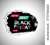 black friday sale banner over... | Shutterstock .eps vector #573760663