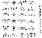 vector large set of floral... | Shutterstock .eps vector #57376399