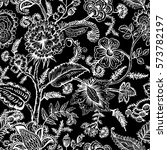 seamless pattern with fantasy... | Shutterstock .eps vector #573782197