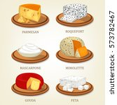 italian parmesan reggiano...   Shutterstock .eps vector #573782467