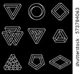 set of impossible shapes.... | Shutterstock .eps vector #573784063