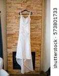 custom made wedding dress... | Shutterstock . vector #573801733