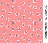 hearts seamless pattern. vector ... | Shutterstock .eps vector #573805057