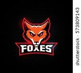 fox mascot for a sport team on... | Shutterstock .eps vector #573809143