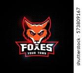 fox mascot for a sport team... | Shutterstock .eps vector #573809167