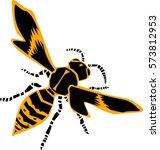 wasp vector illustration | Shutterstock .eps vector #573812953