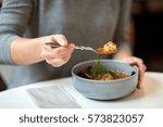 food  new nordic cuisine and... | Shutterstock . vector #573823057