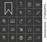 bookmark. linear internet icons ...