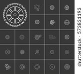 setting or gears icons set.... | Shutterstock .eps vector #573831193