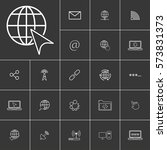 cursor. linear internet icons...