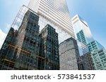 skyscrapers in downtown... | Shutterstock . vector #573841537