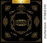 vector set of vintage corners... | Shutterstock .eps vector #573842143