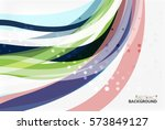 colorful flowing wave abstract... | Shutterstock .eps vector #573849127