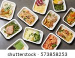 delivery sets of healthy and... | Shutterstock . vector #573858253