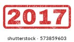 2017 text rubber seal stamp... | Shutterstock .eps vector #573859603