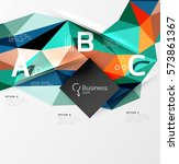 low poly polygonal triangle... | Shutterstock .eps vector #573861367