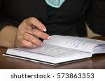 business concept   hands at... | Shutterstock . vector #573863353