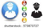 police officer icon | Shutterstock .eps vector #573873727