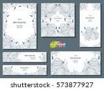 set of different templates for... | Shutterstock .eps vector #573877927