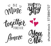 set of five vector hand drawn... | Shutterstock .eps vector #573884737