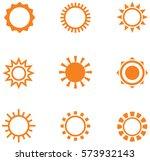 sun orange icons | Shutterstock .eps vector #573932143