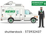 journalistic concept. detailed... | Shutterstock .eps vector #573932437