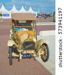 Small photo of LELYSTAD, THE NETHERLANDS - JUNE 19, 2016: 1910 Hupmobile 20 Runabout on display during the annual National Oldtimer day. Non-ticketed public event held in the streets of the city