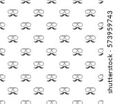 seamless pattern with hipster... | Shutterstock .eps vector #573959743