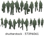 illustration of business people | Shutterstock .eps vector #57396061