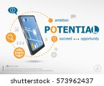 potential and marketing concept ... | Shutterstock .eps vector #573962437