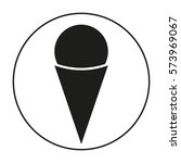 ice cream. icon. flat design. | Shutterstock .eps vector #573969067