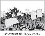 illustration of crowd... | Shutterstock .eps vector #573969763