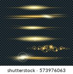 Vector Set Of Glow Lightning...