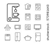 coffee machine household... | Shutterstock .eps vector #573981643