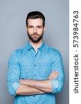 portrait of young confident... | Shutterstock . vector #573984763