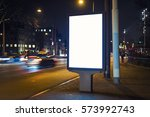outdoor advertising billboard | Shutterstock . vector #573992743