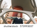 young handsome man with short... | Shutterstock . vector #573993037