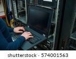 young it engeneer business man... | Shutterstock . vector #574001563