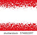 white falling hearts on... | Shutterstock .eps vector #574002397