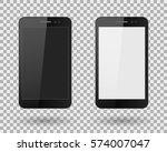 mobiles phones realistic black... | Shutterstock .eps vector #574007047