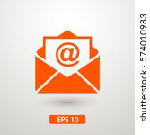 mail icon  | Shutterstock .eps vector #574010983