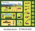 agriculture and farming.... | Shutterstock .eps vector #574014103