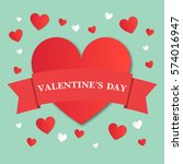 valentine's day vector... | Shutterstock .eps vector #574016947