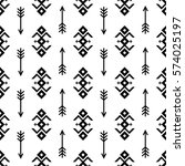 seamless indian pattern vector... | Shutterstock .eps vector #574025197
